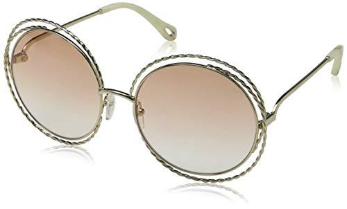 Chloé Ce114st Gafas de Sol, Gold/Peach Lens, 58 para Mujer