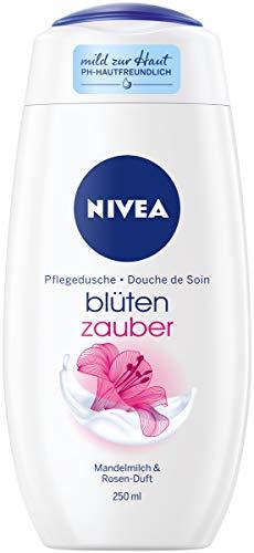 NIVEA Blütenzauber Pflegedusche (250 ml), seidiges Duschgel mit Mandel-Öl und dem Duft weißer Rosenblätter, Cremedusche für ein sanftes Hautgefühl