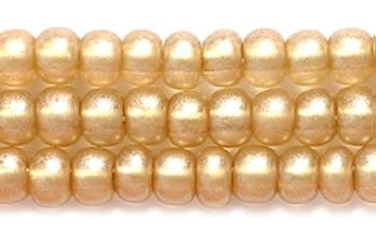 Preciosa Ornela Czech Seed Bead, Metallic Transparent Champagne, Size 6/0