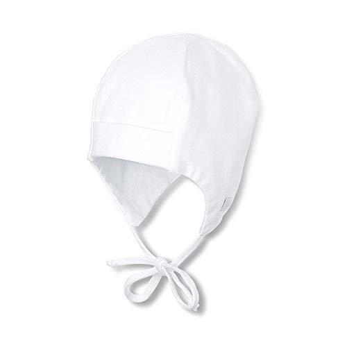 Sterntaler - Baby Mädchenmütze zum Binden Ohrenschutz, weiß - 35weiß