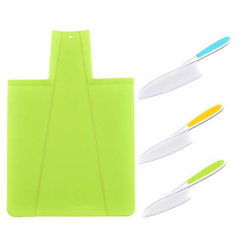 Cuchillos de Cocina para niños,juego de cuchillos de cocina de plástico para niños, para, Cuchillos de Nailon para Chef(3 Unidades)