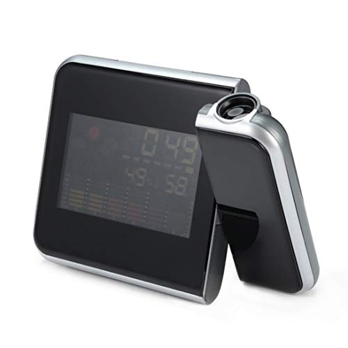 Swiftgood Wettervorhersage Creative Fashion LCD Elektronische Uhr Wettervorhersage 8190 Projektionsuhr Snooze Color Screen