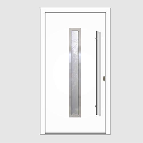 Haustür Welthaus WH94 RC2 Premiumtür Aluminium mit Kunststoff LA211 Tür 1000x2000mm DIN Rechts Farbe aussen weiß Innen weiß außengriff BGR1400 innendrucker M45 Zylinder 5 Schlüßel