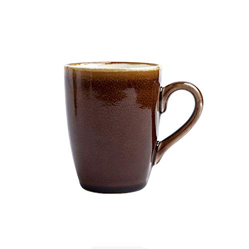 Easy to Carry Ceramic Mug Kiln-Changed Mug, Simple Milk Cup, High-Temperature Firing Coffee Cup, 10.8 Ounces, a Variety of Colors to Choose from Porcelain Cup (Color : A) (Color : F)