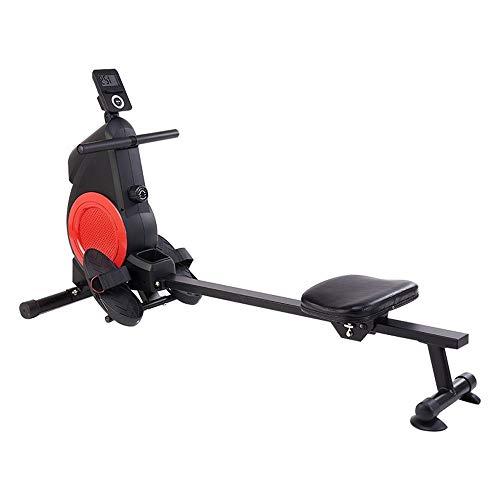PQXOER Rudergeräte Rudergerät Heim Kleine Fitnessgeräte Folding Mini Indoor Mute Multifunktionale Rudergerät Rudergerät klappbar für Zuhause (Color : Black, Size : 165x48x85cm)