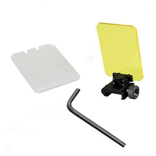JCstarrie Tactical Scope Lens, Jagd Displayschutzfolie Umfang Faltbare Reflexlinse 20mm QD Montieren Für Red Dot Sight Scope Cover Rechteck Umfang Faltbare Linsenschutz für Zielferngläser