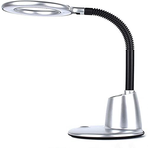 ADDG Lámpara de Escritorio Lámpara de Mesa Plegable Protección de los Ojos LED lámpara de Mesa, los Estudiantes aprenden a Leer luz de la Noche Dormitorio lámpara(Silver)