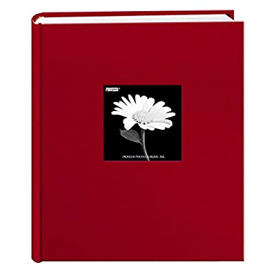 Fabric Frame Cover Photo Album 200 Pockets Hold 5x7 Photos, Apple Red