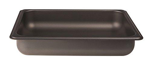 Pentole Agnelli alsa282ss40 Plaque Gastronorm 1/2, Anti-adhésif intérieur/extérieur, Aluminium, 26,5 x 32,5 x 4 cm
