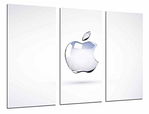 MULTI Houten Afdrukken Art Print Box Ingelijste Beeld Wandopknoping - Logo Apple op Behang Wit, Apple, Technologie, (Totale Grootte: 38,2