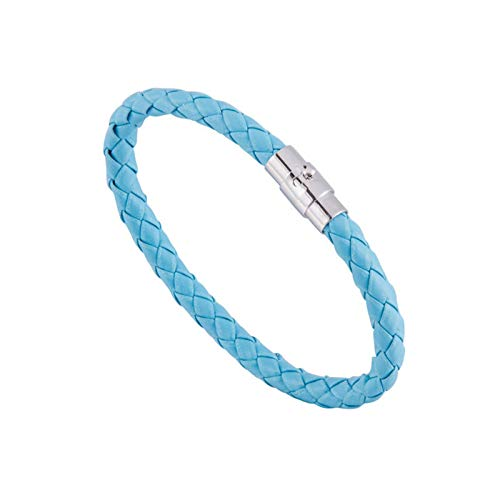 QMDSH Pulsera tejida (color metálico: azul lago)