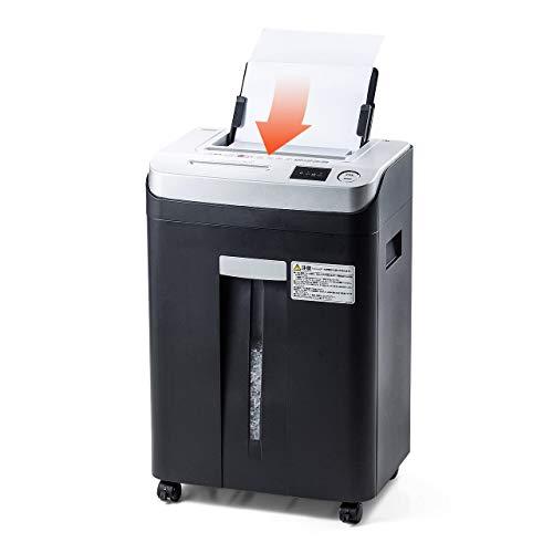 サンワダイレクト シュレッダー 業務用 オートフィード 自動細断80枚 マイクロカット CD DVD細断 ダストボックス22L 400-PSD040