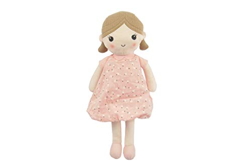 "Linzy Toys, Soft Plush Pink Emily Rag Doll, 15"""