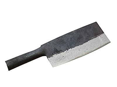 Crude - Chinese Cleaver Meat Chopping Knife, 8 inch, Carbon Steel, All Steel, One Piece Design