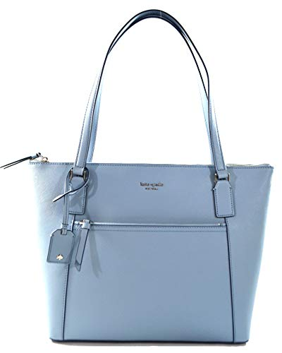 Kate Spade Cameron Saffiano Leather Pocket Tote Bag Purse Handbag for Work School Office Travel (Blue Dawn)