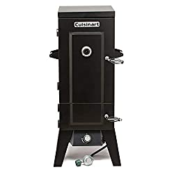 commercial Cuisinart COS-244 36 inch Vertical Propane Fireplace, Black smokers