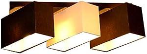 Lámpara de techo plafón Milano B3D Bombilla Lámpara 3focos diferentes variantes