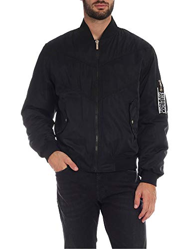 Luxury Fashion | Versace Jeans Heren C1GUA90825013899 Zwart Polyester Outerwear Jassen | Herfst-winter 19