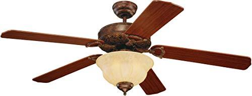 "Monte Carlo 5OR52TBD-L, Ornate Elite, 52"" Ceiling Fan, Tuscan Bronze"