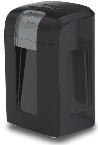 Bonsaii 3S16 Aktenvernichter, bis zu 12 Blatt Papier, Partikelschnitt (Sicherheitsstufe P-4), mit CD - Shredder, 1 Stunde Dauerbetrieb (ca. 4000 DIN A4 Seiten) - geeignet nach DSGVO 2018, schwarz