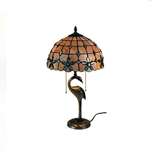 Tiffany Europese stijl puur koper snoep bloem schelp tafellamp woonkamer slaapkamer bar decoratie 12 inch