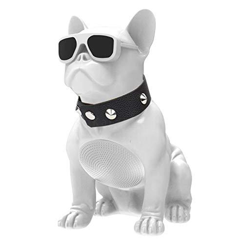 Bulldogge Form Drahtloser Bluetooth Lautsprecher Tragbare Drahtlose Lautsprecher Moderner Intelligenter Kreativer Hund Klarer Stereoklang Verbesserte Hd Bassdekoration Ornamente Partyreisen M Weiß