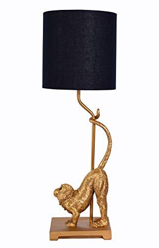 Nachttischlampe Monkey Tischleuchte Affe Lampe Affenfigur Leuchte Tischlampe cw227 Palazzo Exklusiv