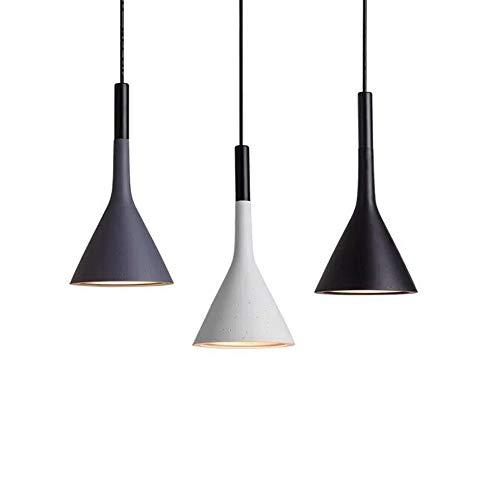 Gdtime Lámpara colgante E27 Moderna lámpara de techo Lámpara de aluminio para sala de estar Dormitorio Oficina Restaurante Cafe Bar Hotel Lámpara Comedor (Gris)