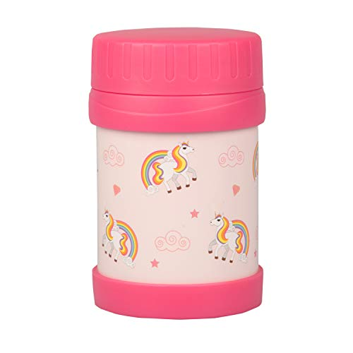 Bentology Stainless Steel Insulated Lunch 13oz Jar for Kids - Unicorn - Large Leak-Proof Storage Jar for Hot/Cold Food, Soups, Liquids, BPA Free-Fits Most Lunch Boxes and Bags
