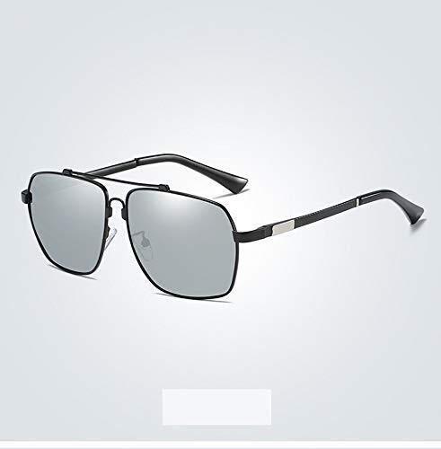 ZHHk Gafas de Sol Visión Nocturna Polarizada Gafas De Doble Uso Gafas De Sol De Color Gafas De Sol Masculinas Caja Piloto Marea Espejo De Conducción Gafas De Sol Hombres