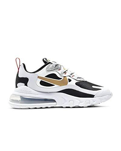 Nike Unisex Sneaker Schuhe AIR MAX 270 React aus weißem Leder CT3433-001