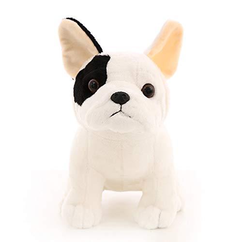 Leuke Franse Bulldog Knuffel, Zittende Mascotte Hond Soft Gevulde Bulldog Pop Kinderspeelgoed, Verjaardag Kerstcadeaus Voor Kinderen 22 Cm