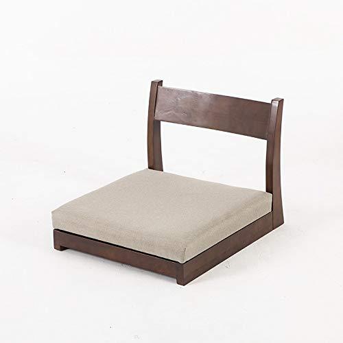 SPFOZ Haus Dekoration Wood Zaisu Floor Japanischer Meditation Tatami-Stuhl W zurück Unterstützung zum Lesen Entspannender TV-Uhren-Seminare oder Diskussionsgruppe