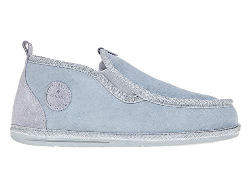 Vanuba Bond - Pantofole da Uomo Artigianali, in Pelle Naturale, 100% Lana di Pecora, Scarpe da Casa Calde e Confortevoli (40 EU, Grigio (Grey))