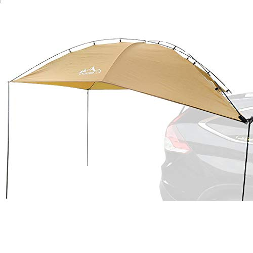 Car Awning Car Canopy Car Camping Car Tent, Awning Sun Shelter SUV Tent Auto Canopy Portable Camper Trailer Tent Rooftop Car Awning for Beach MPV Hatchback Minivan Sedan Outdoor Camping