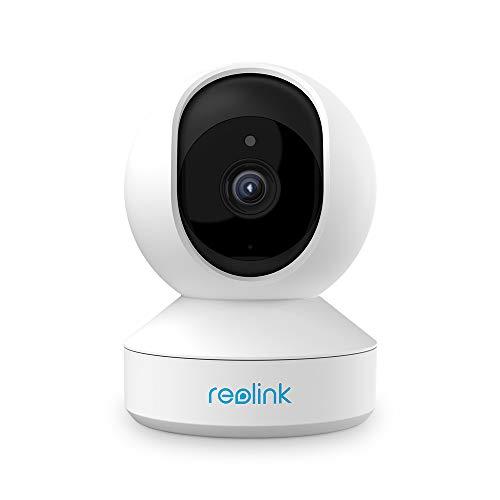 Reolink 4MP Cámara Vigilancia WiFi Inteligente Giratorio Inclinación, 2.4GHz/5GHz WiFi, Audio Bidireccional, Detección de Movimiento IP Cámara para Hogar Seguridad (E1 Pro)