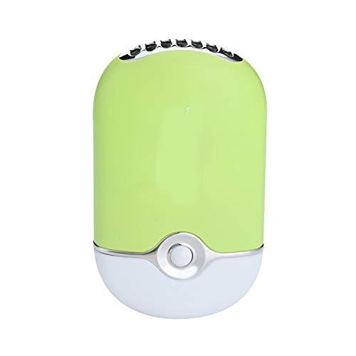 Zs-Cooling Fans Fan Mini tragbare Handventilator Befeuchtung Kühler Lüfter Wimperntrockner Nageltrockner USB-Luftgebläse Mini tragbarer Lüfter (Color : Light Green)