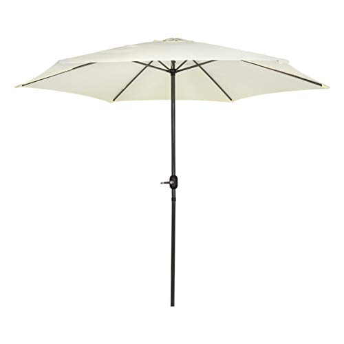 Aktive - Parasol hexagonal Garden diámetro 3 m - Mástil de aluminio 38 mm - Color...