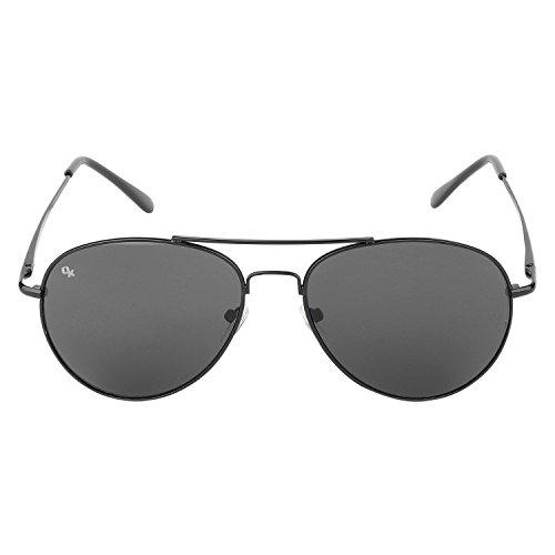 Opticalskart Gafas de sol de aviador negro para hombres (OKSM005C1)