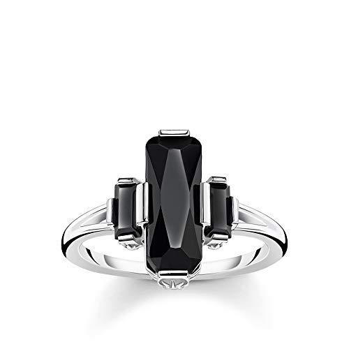 Thomas Sabo Damen-Ring Schwarze Steine 925 Sterlingsilber TR2267-641-11-52