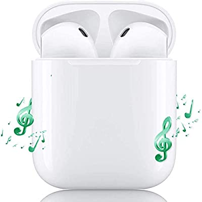 Wireless Bluetooth Headphones,V5.0 Portable Noise Cancelling HD Stereo Sport Earbuds Bluetooth Headset with Charging Box and Microphone,Compatible with IOS and Android Smartphones and Tablets by Ltow