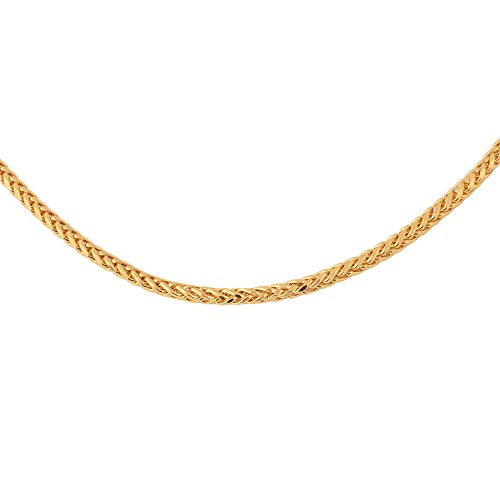 TJC 22ct Yellow Gold Spiga Chain Necklace for Women Size 22', Gold wt. 9.16 Gms.