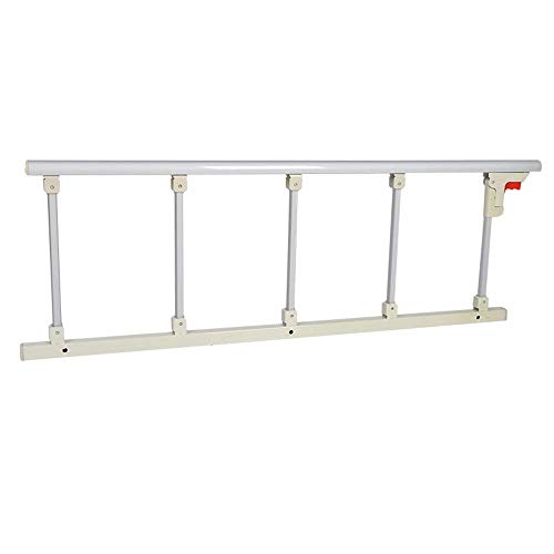 ZHAS Faltbarer Bettgitter-Sicherheits-Seitenschutz für ältere Menschen, Erwachsene unterstützen Griff-Handikap-Bettgitter-Krankenhaus-Metallgriff-Stoßstange (Größe: 120x40cm)