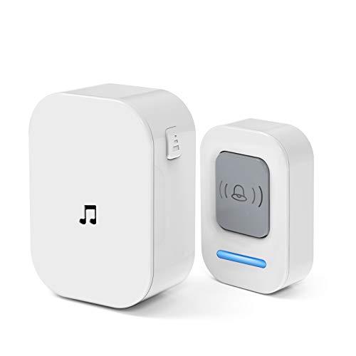 Adoric Life Wireless Doorbell Waterproof Door Bell Kit, 1000 Feet Operating, 36 Chimes, 4 Level...