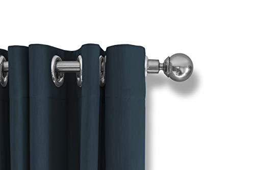 LIFA LIVING Cortinas Opacas Aislantes Termicas, Cortinas con Ojales 100% Poliéster (Azul, 250x150cm)