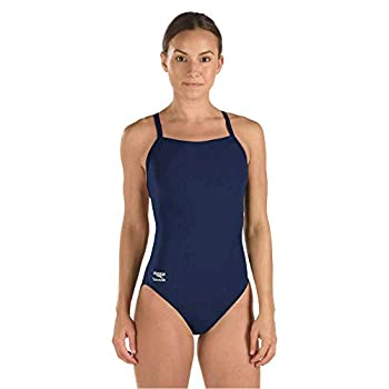 Speedo Women s Swimsuit One Piece Endurance+ Flyback Solid Adult Team Colors Speedo Navy 34