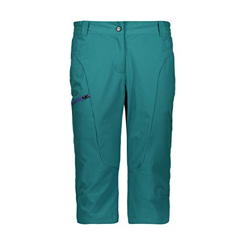 CMP Stretch Nylon Capri Trousers with Sun Protection Pantalon Femme, Lake, 42