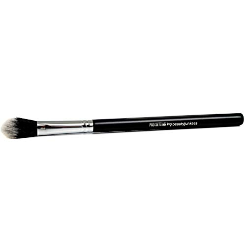 Under Eye Setting Powder Brush - Small Soft Fluffy Tapered Blending Makeup Brush, Set Concealer, Buffing, Baking, Finishing Loose, Pressed, Compact, Mineral Cosmetics, Synthetic, Cruelty Free Vegan