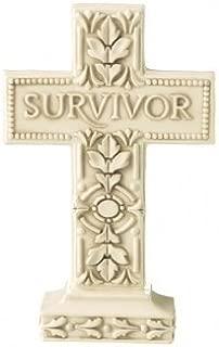 Grasslands Road Survivor Pedestal Ceramic Cross – Ivory