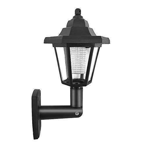 Galapara buitenlamp solar, waterdichte solar-LED-wandlamp LED sensor wandlamp hexagon lamp weg tuinhek lamp voor binnendeur, trappen, oprit